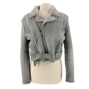 Iro Shearling Belted Jacket